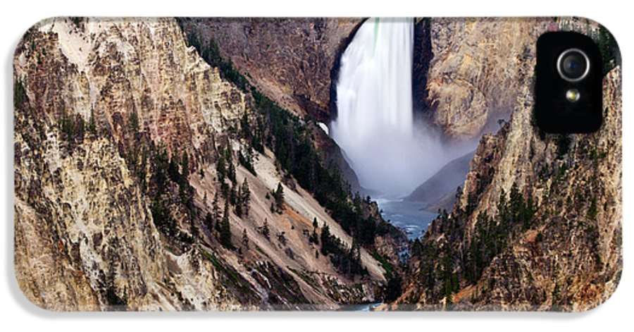 IPhone 5 Case featuring the photograph Lower Yellowstone Falls by Bill Gallagher