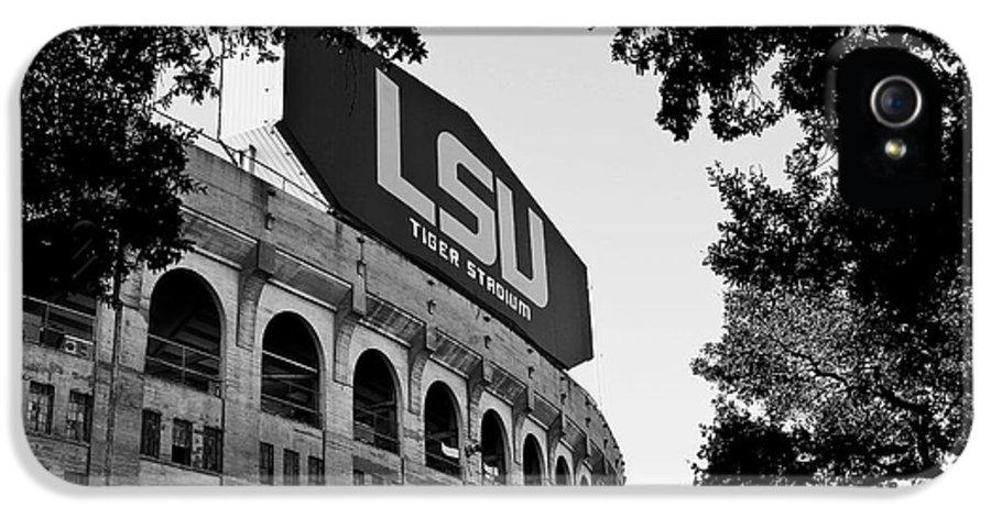 Lsu IPhone 5 Case featuring the photograph Lsu Through The Oaks by Scott Pellegrin