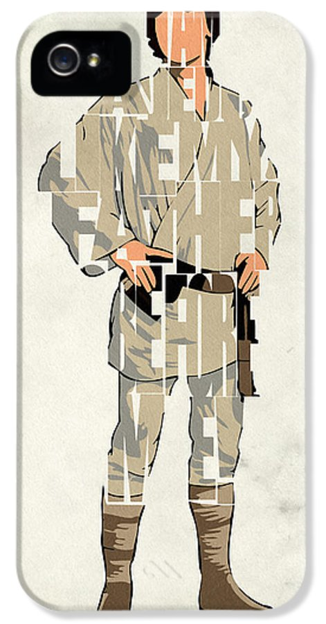 Luke Skywalker IPhone 5 Case featuring the digital art Luke Skywalker - Mark Hamill by Inspirowl Design
