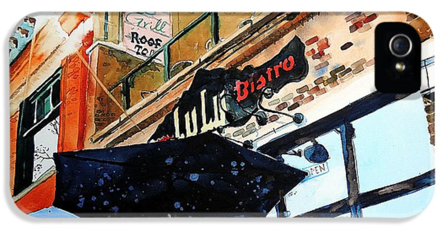 Fort Collins IPhone 5 Case featuring the painting Lulu Asian Bistro by Tom Riggs