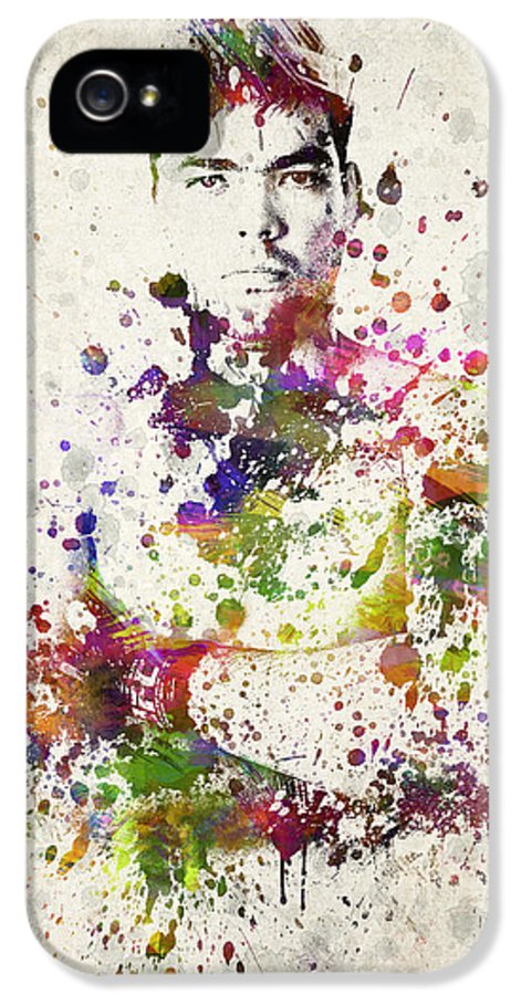 Lyoto Machida IPhone 5 Case featuring the drawing Lyoto Machida by Aged Pixel