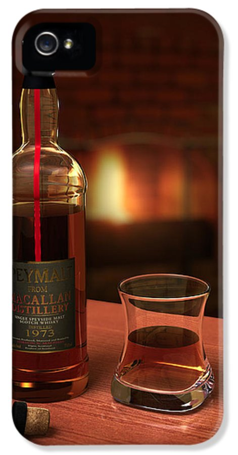 3d IPhone 5 Case featuring the photograph Macallan 1973 by Adam Romanowicz