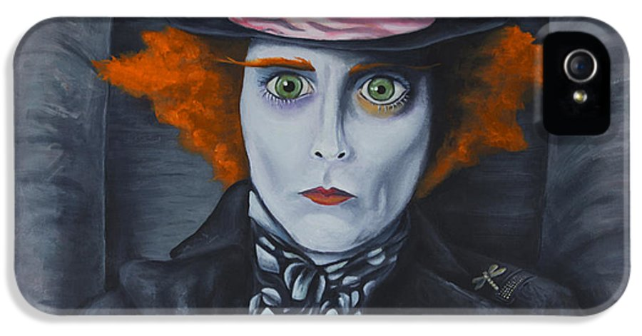 Mad Hatter IPhone 5 Case featuring the painting Mad Hatter by Travis Radcliffe