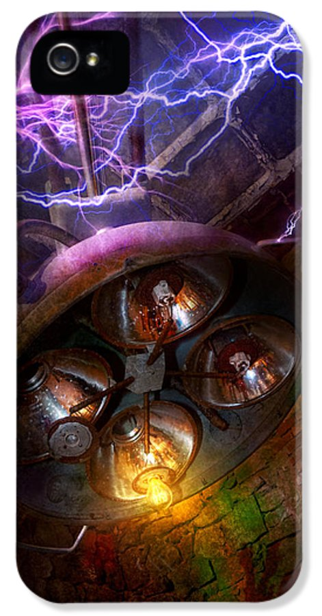 Voltage IPhone 5 Case featuring the photograph Mad Scientist - Your Operation Was A Success by Mike Savad