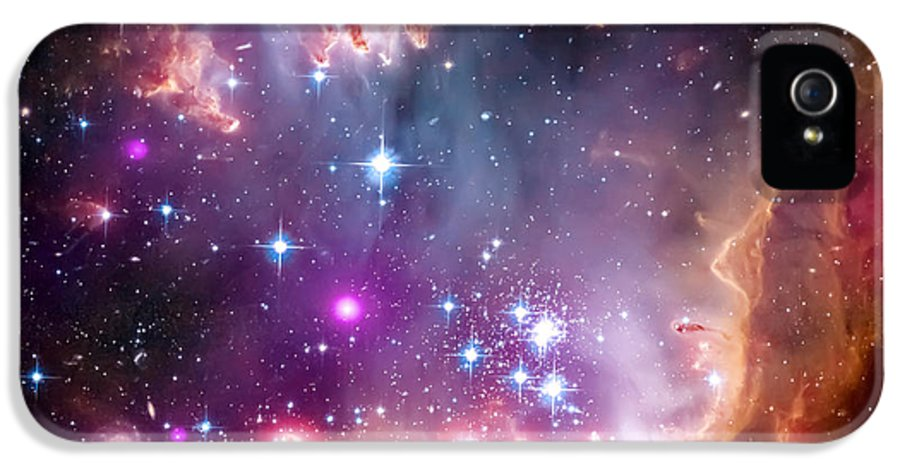 Universe IPhone 5 Case featuring the photograph Magellanic Cloud 3 by Jennifer Rondinelli Reilly - Fine Art Photography