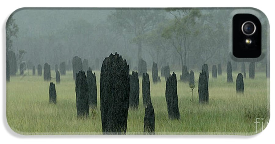 Termites IPhone 5 Case featuring the photograph Magnetic Termite Mounds by Bob Christopher