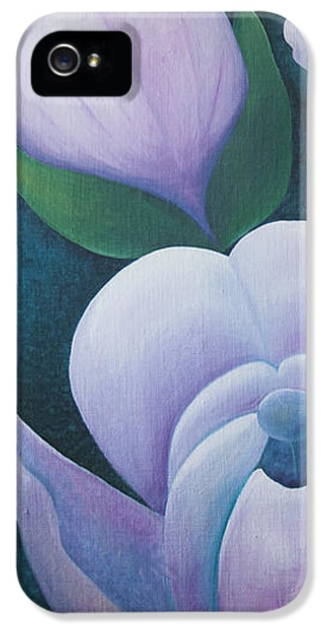 Art IPhone 5 Case featuring the photograph Magnificent Magnolia Buds Vertical Pink Flower Bud Closeup Textu by Christina Rahm