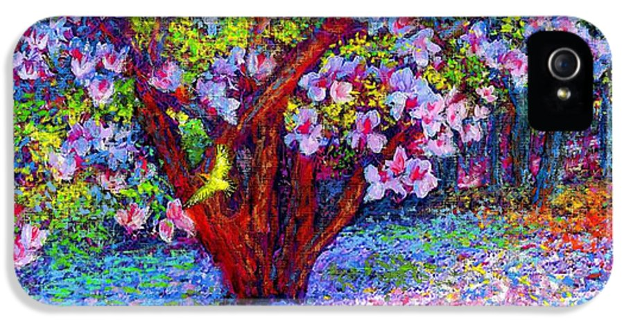 Magnolia IPhone 5 Case featuring the painting Magnolia Melody by Jane Small