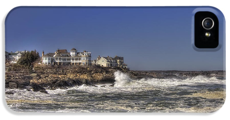 Water IPhone 5 Case featuring the photograph Main Coastline by Joann Vitali