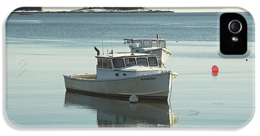 Maine IPhone 5 Case featuring the photograph Maine Lobster Boats In Winter by Keith Webber Jr