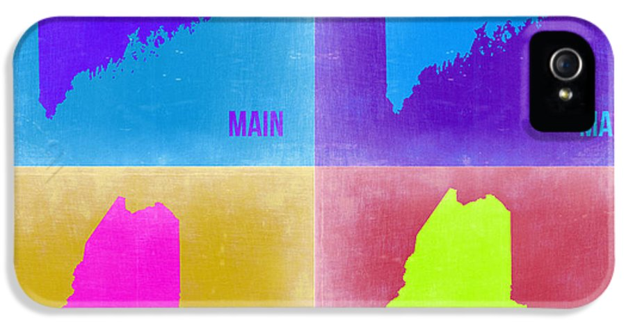 Maine Map IPhone 5 / 5s Case featuring the painting Maine Pop Art Map 2 by Naxart Studio