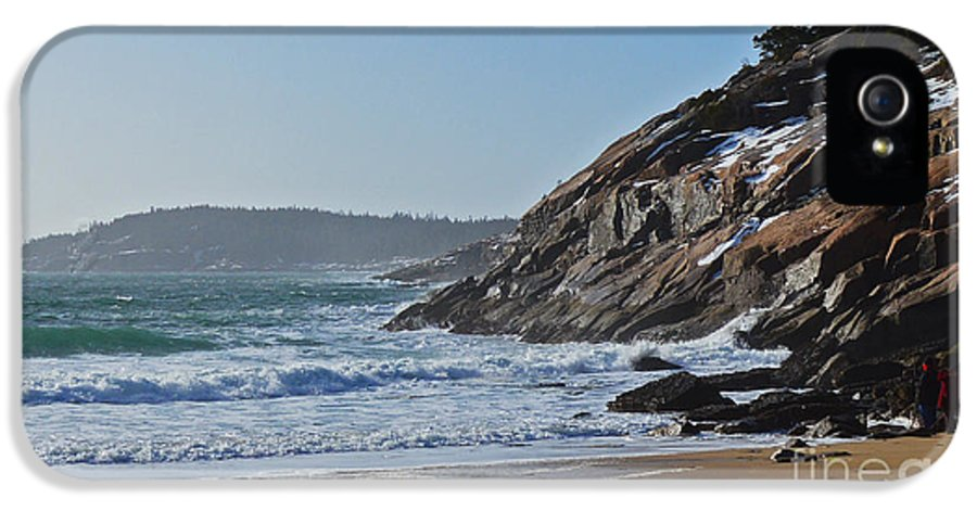 Maine IPhone 5 Case featuring the photograph Maine Surfing Scene by Meandering Photography