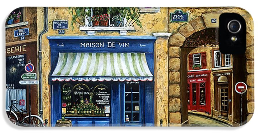 Wine IPhone 5 Case featuring the painting Maison De Vin by Marilyn Dunlap