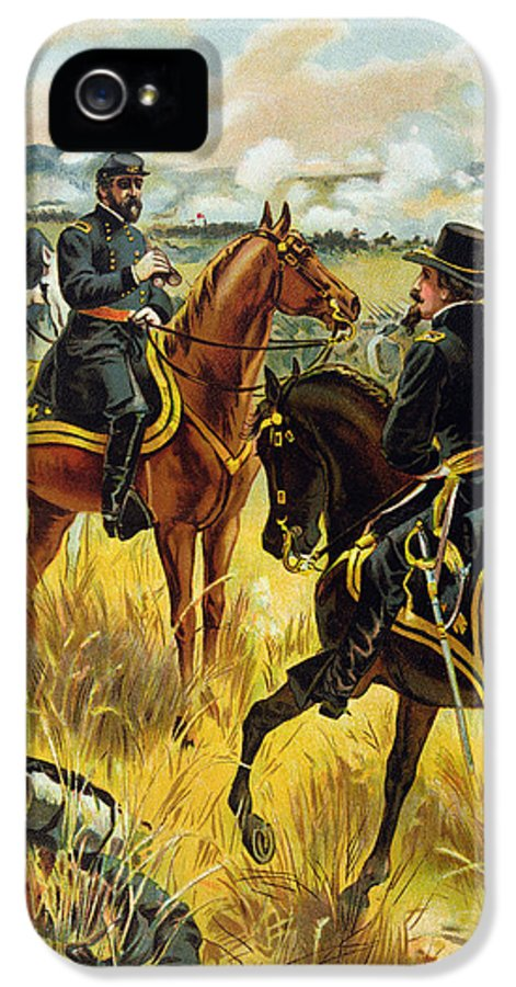 Male IPhone 5 Case featuring the painting Major General George Meade At The Battle Of Gettysburg by Henry Alexander Ogden