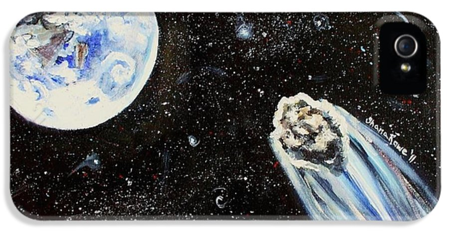 Space IPhone 5 Case featuring the painting Make A Wish by Shana Rowe Jackson