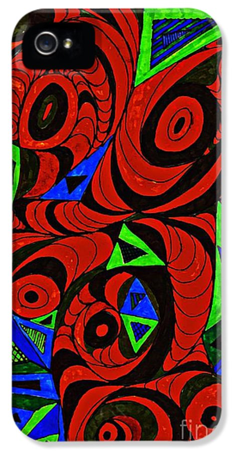 Drawing IPhone 5 Case featuring the drawing Man And Machine by Sarah Loft