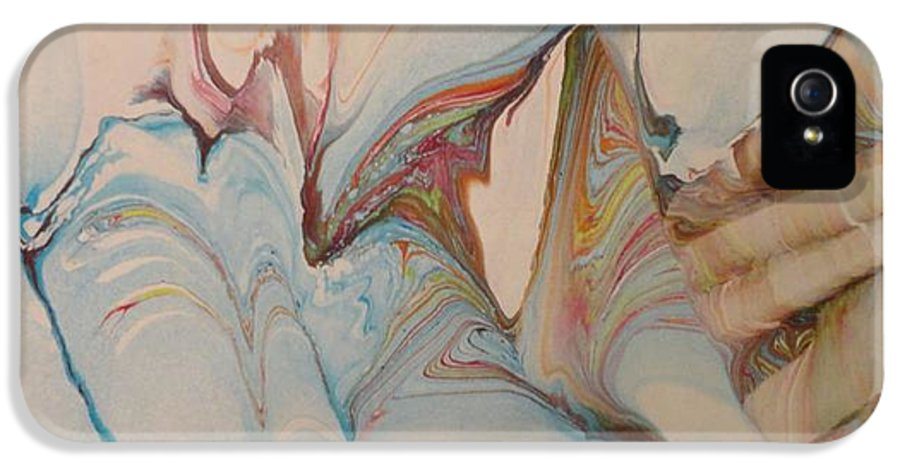 Marbling Art IPhone 5 Case featuring the painting Marble 24 by Mike Breau
