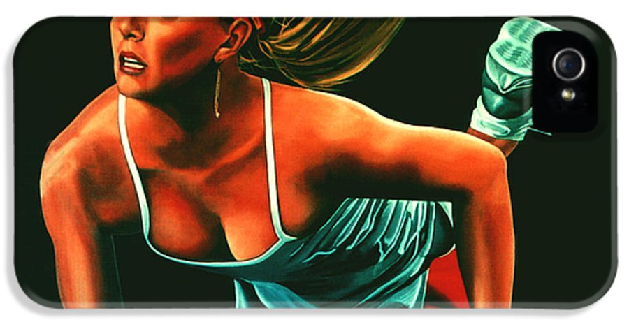 Paul Meijering IPhone 5 Case featuring the painting Maria Sharapova by Paul Meijering