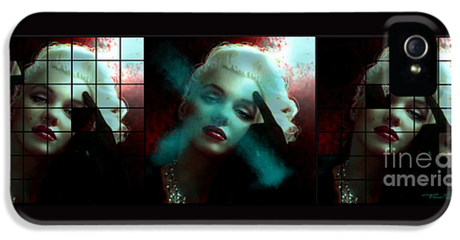 Marilyn IPhone 5 Case featuring the painting Marilyn 128 Tryp by Theo Danella