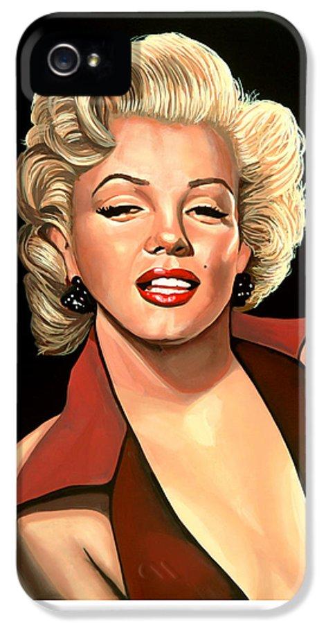 Marilyn Monroe IPhone 5 Case featuring the painting Marilyn Monroe 4 by Paul Meijering