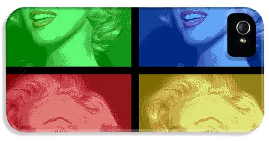 marilyn Monroe IPhone 5 Case featuring the digital art Marilyn Monroe Colored Frame Pop Art by Daniel Hagerman