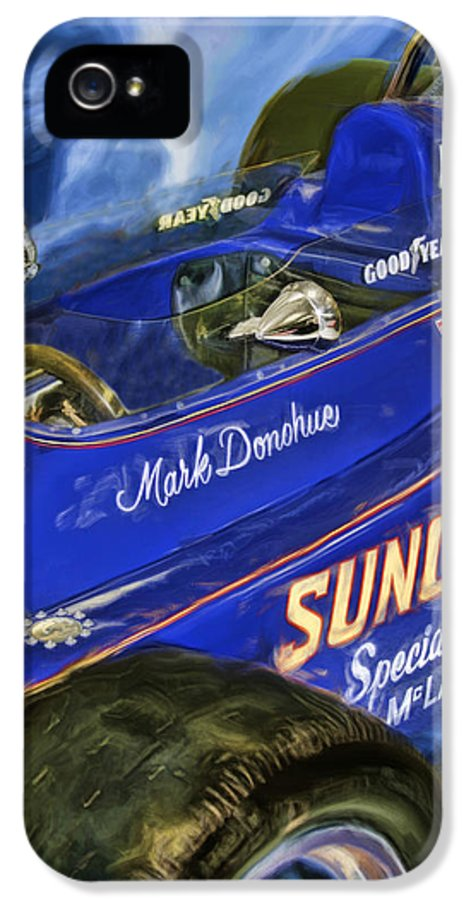 Mark Donohue IPhone 5 Case featuring the photograph Mark Donohue 1972 Indy 500 Winning Car by Blake Richards