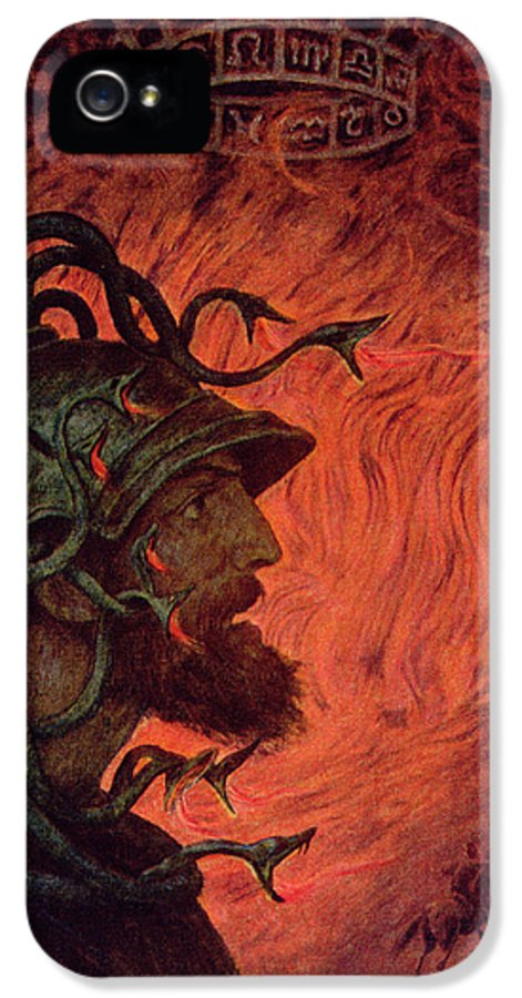 God Of War IPhone 5 Case featuring the painting Mars by Hans Thoma