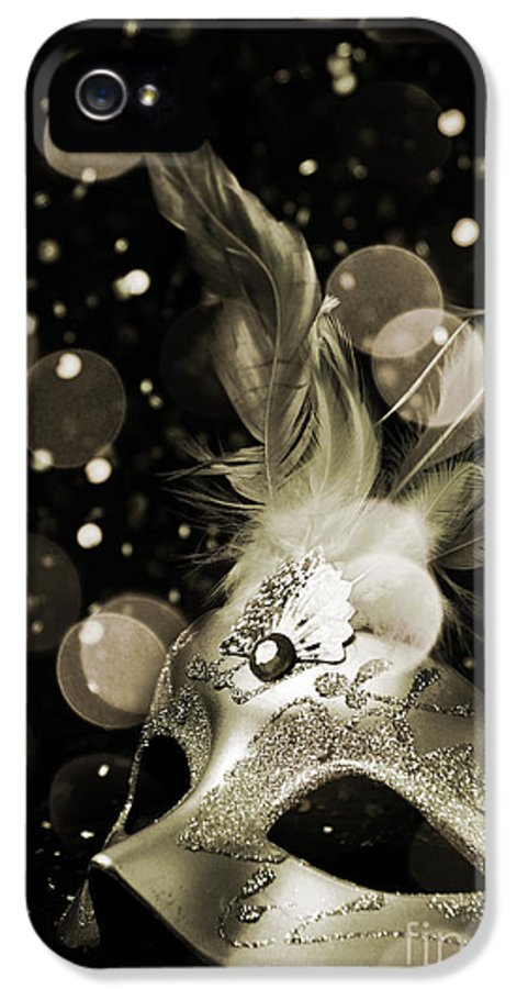 Mask IPhone 5 Case featuring the photograph Masquerade by Jelena Jovanovic