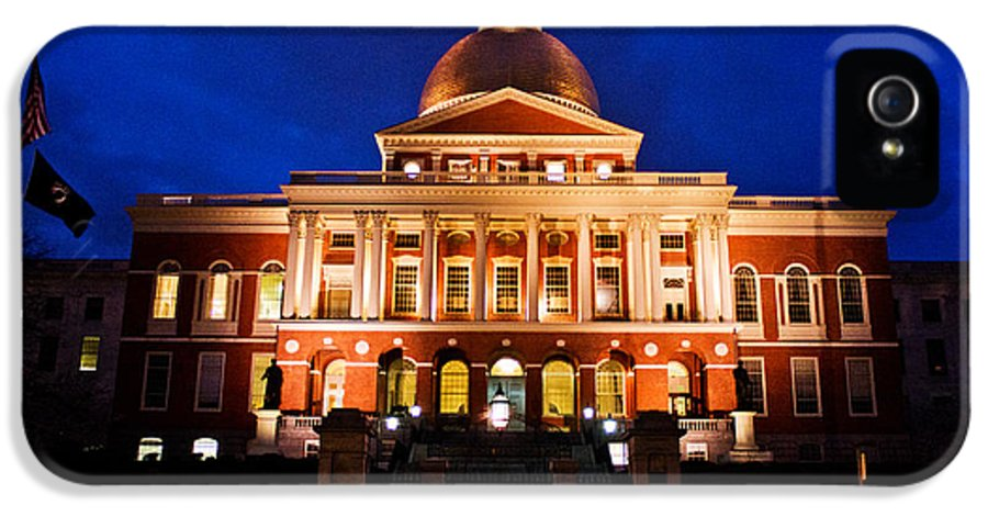 Boston IPhone 5 Case featuring the photograph Massachusetts State House by John McGraw
