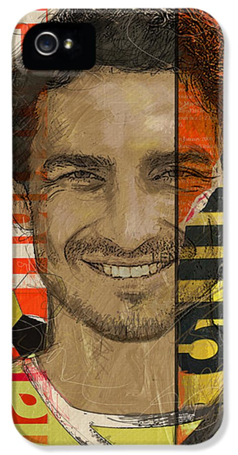 Mats Hummels IPhone 5 Case featuring the painting Mats Hummels by Corporate Art Task Force