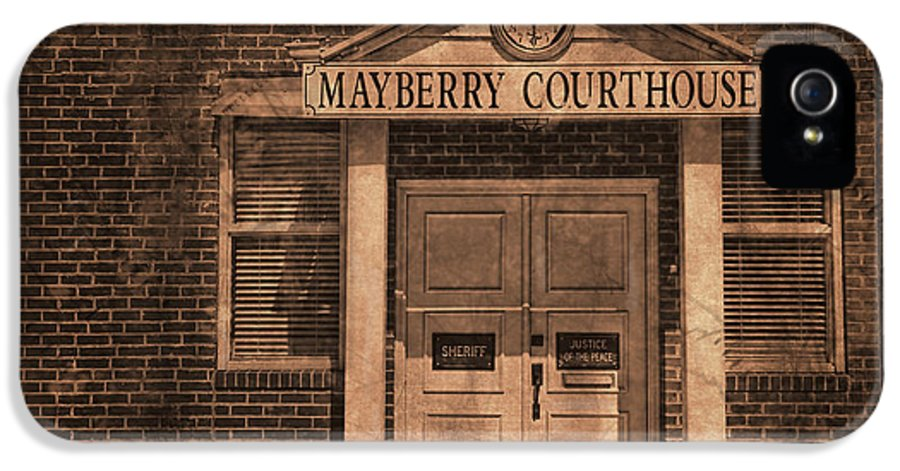 Andy Griffith IPhone 5 Case featuring the photograph Mayberry Courthouse by David Arment