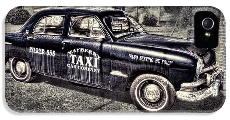 Andy Griffith IPhone 5 Case featuring the photograph Mayberry Taxi by David Arment