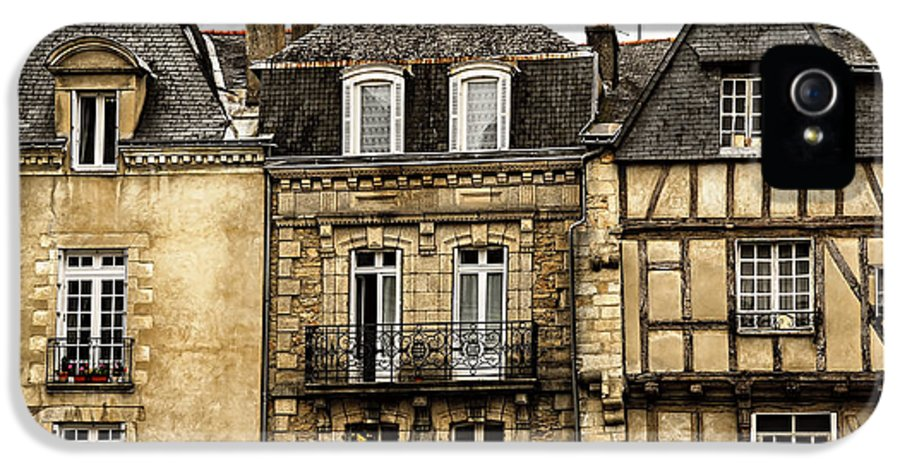 Vannes IPhone 5 Case featuring the photograph Medieval Houses In Vannes by Elena Elisseeva