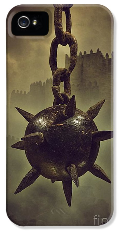 Mist IPhone 5 Case featuring the photograph Medieval Spike Ball by Carlos Caetano