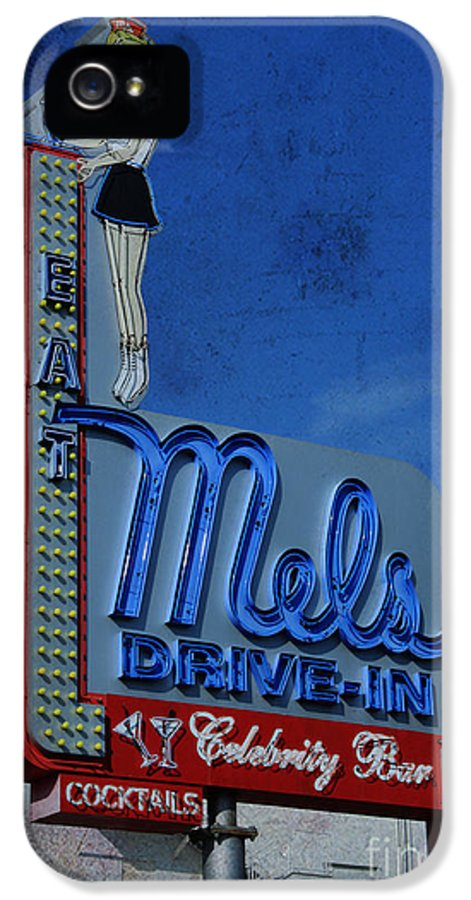 Food IPhone 5 Case featuring the photograph Mels Drive In Celebrity Bar by Janice Rae Pariza
