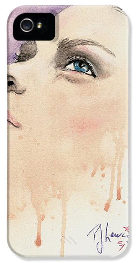 Beautiful Woman IPhone 5 Case featuring the drawing Melting Youthful Beauty by P J Lewis