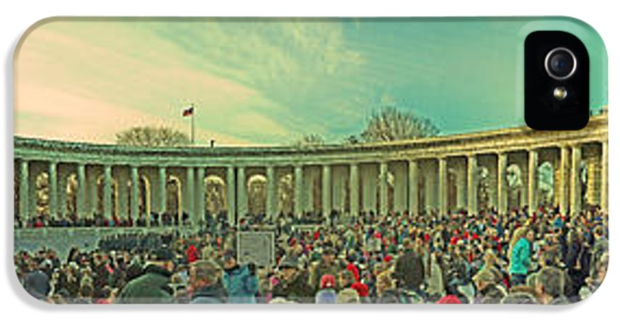Memorial Amphitheater At Arlington National Cemetery IPhone 5 Case featuring the photograph Memorial Amphitheater At Arlington National Cemetery by Tom Gari Gallery-Three-Photography