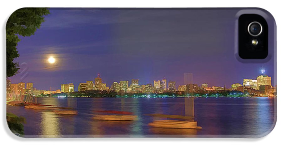 Boston IPhone 5 Case featuring the photograph Memorial Drive - Cambridge by Joann Vitali