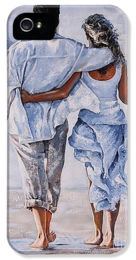 Couple IPhone 5 Case featuring the painting Memories Of Love by Emerico Imre Toth