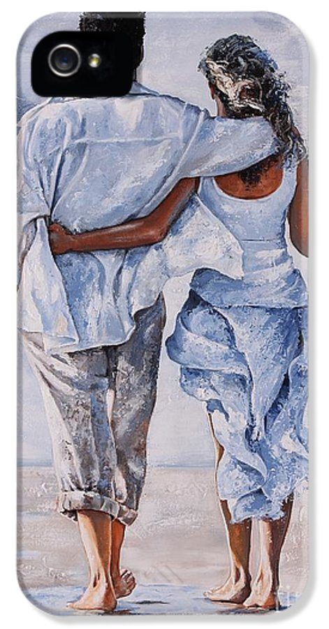Couple IPhone 5 / 5s Case featuring the painting Memories Of Love by Emerico Imre Toth