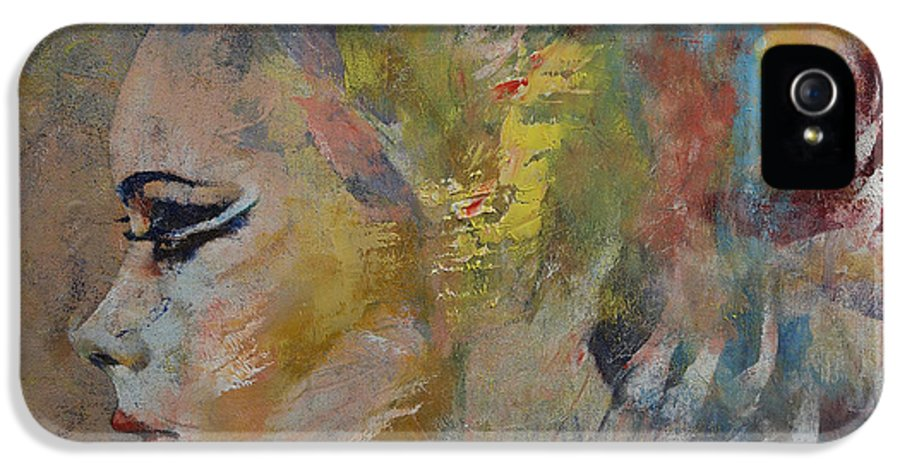 Mermaid IPhone 5 Case featuring the painting Mermaid by Michael Creese
