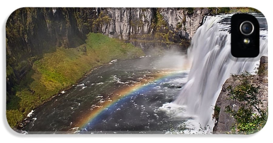 Waterfalls IPhone 5 Case featuring the photograph Mesa Falls by Robert Bales