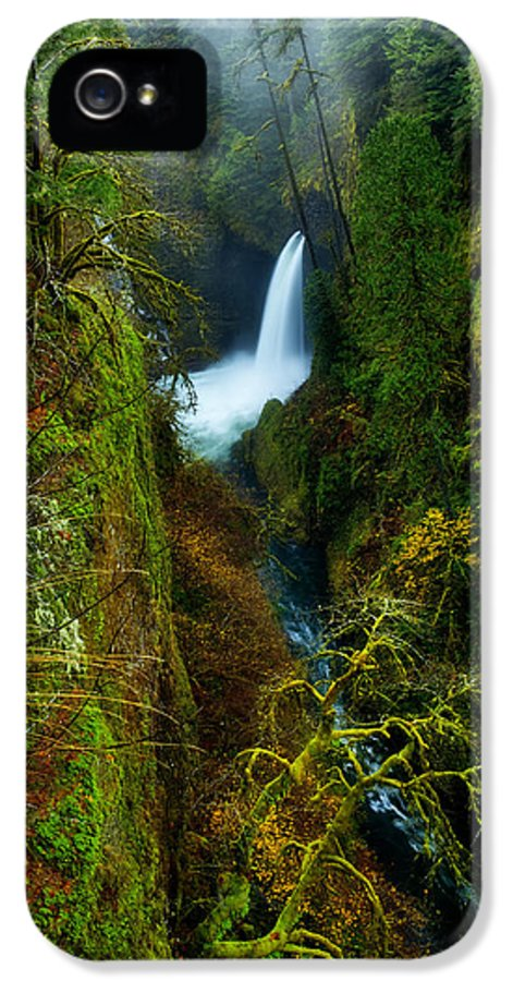 Lush IPhone 5 Case featuring the photograph Metlako Falls by Darren White