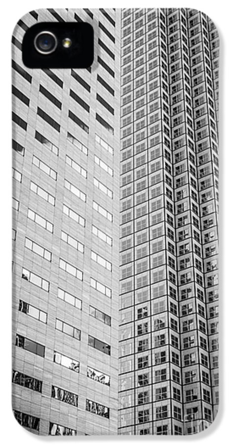 America IPhone 5 Case featuring the photograph Miami Architecture Detail 2 - Black And White by Ian Monk
