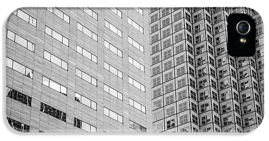 America IPhone 5 Case featuring the photograph Miami Architecture Detail 2 - Black And White - Square Crop by Ian Monk