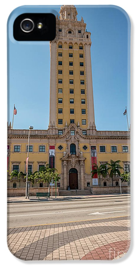 America IPhone 5 Case featuring the photograph Miami Freedom Tower 3 - Miami - Florida by Ian Monk