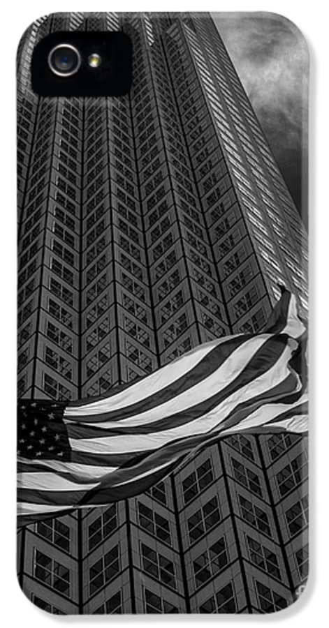 American Flag IPhone 5 Case featuring the photograph Miami Southeast Financial Center by Rene Triay Photography