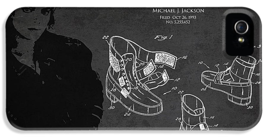 Michael Jackson IPhone 5 Case featuring the digital art Michael Jackson Patent by Aged Pixel