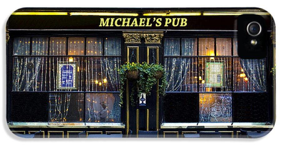 Michael IPhone 5 Case featuring the photograph Michaels''s Pub by David Pyatt