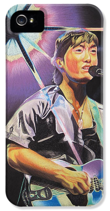 Michael Kang IPhone 5 Case featuring the drawing Micheal Kang by Joshua Morton